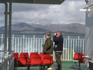 On the ferry from Harris