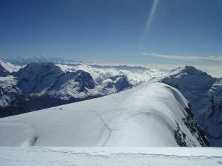 View from summit of Mera Peak