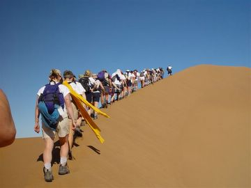 Morocco dune walk by Bill Cook