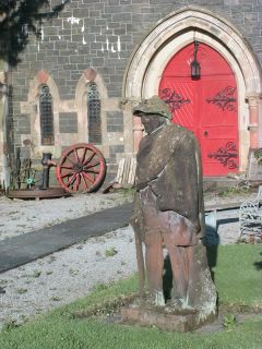 Covenanter statue at Newton Stewart Museum