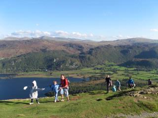 Walking above Derwentwater