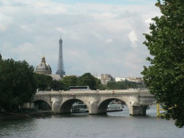 Paris - the River Seine and the Eiffel Tower